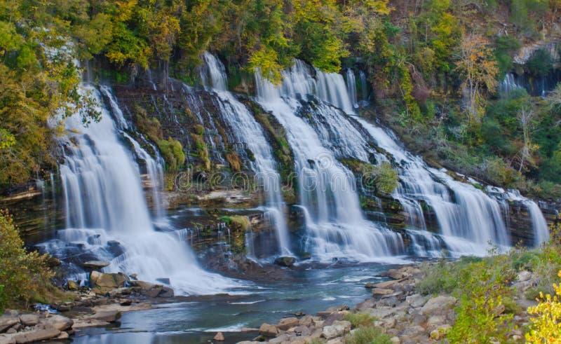 Twin Falls岩石海岛国家公园田纳西 免版税库存图片