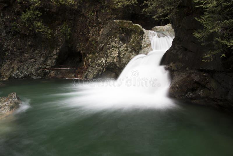 Twin Falls dans l'automne photo stock