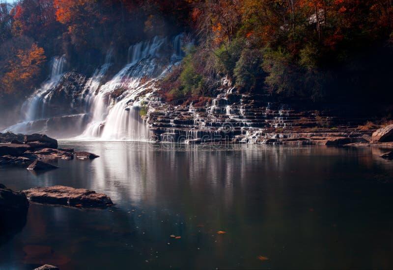 Twin Falls en el parque de isla estado de la roca fotografía de archivo libre de regalías