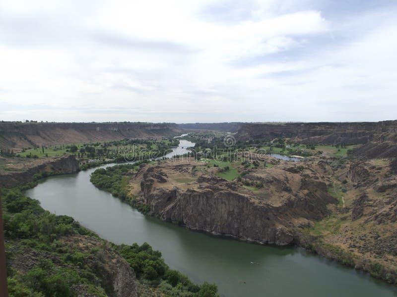 Twin Falls landskap i Snake River, Idaho royaltyfria foton