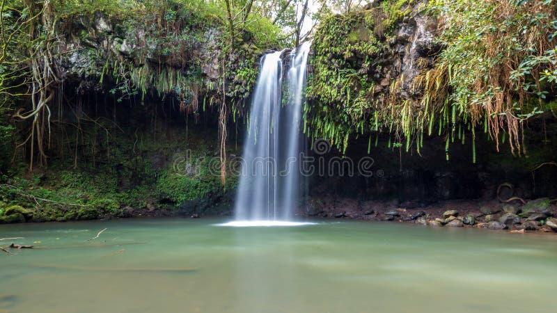 Twin Falls Maui imagen de archivo libre de regalías