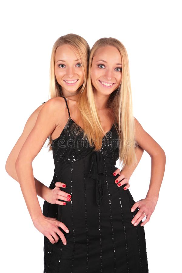 Twin girls royalty free stock photography