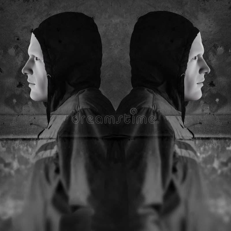 Download Twin hooded figures stock illustration. Illustration of grunge - 19574846