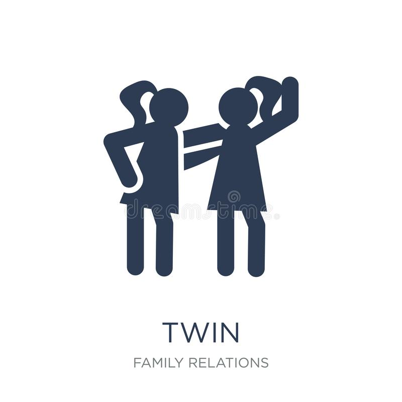 twin icon. Trendy flat vector twin icon on white background from royalty free illustration
