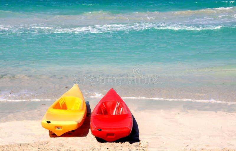 Download Twin Kayak stock photo. Image of kayaks, orange, yellow - 8307440