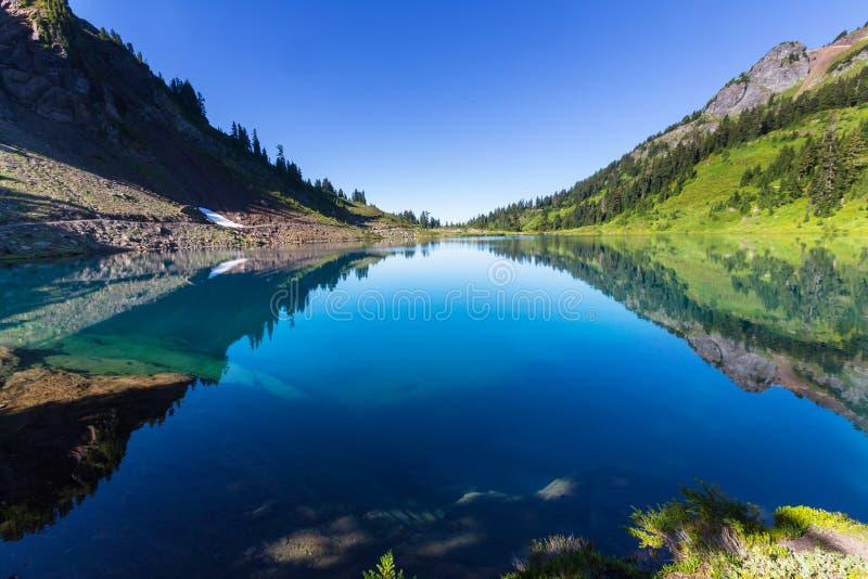Twin lake. S in Mt.Baker Recreational Area,Washington, USA royalty free stock image