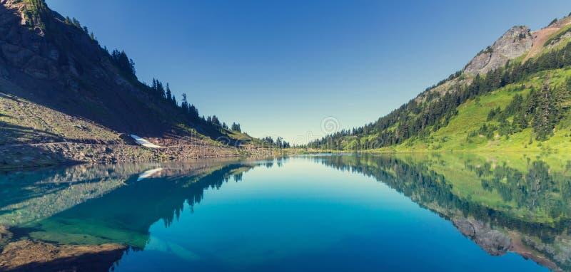 Twin lake. S in Mt.Baker Recreational Area,Washington, USA royalty free stock photos