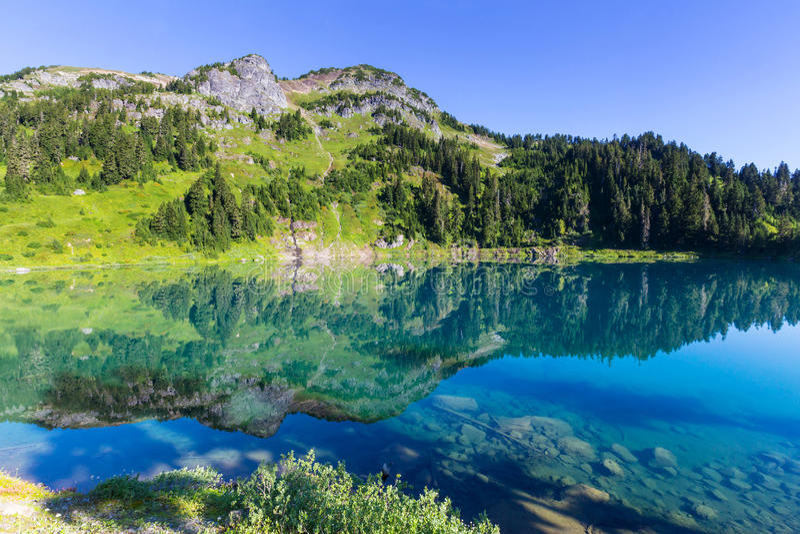 Twin lake. S in Mt.Baker Recreational Area,Washington, USA royalty free stock photo