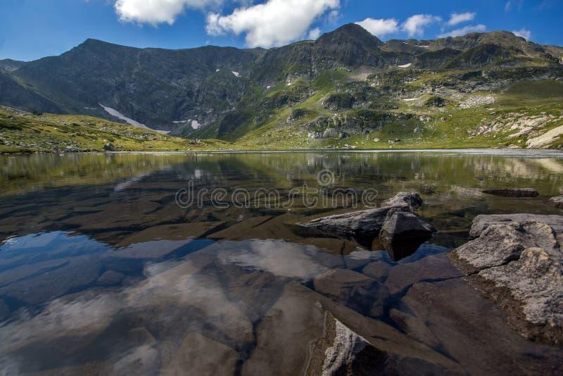 The Twin Lake, The Seven Rila Lakes, Rila Mountain. Bulgaria royalty free stock images