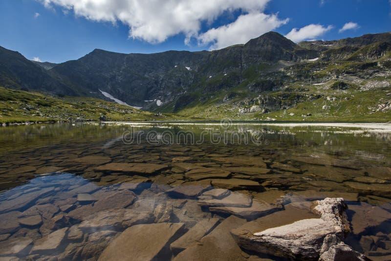 The Twin Lake, The Seven Rila Lakes, Rila Mountain. Bulgaria royalty free stock photo