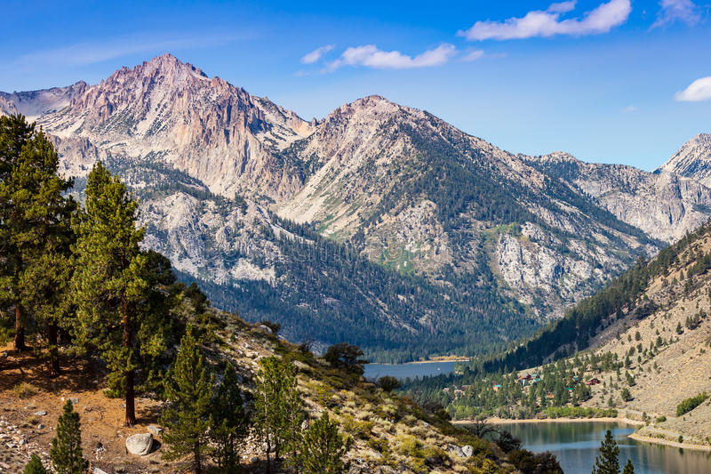 Twin Lakes. View of Twin Lakes, Bridgeport, California from Summers Meadows trail royalty free stock photo