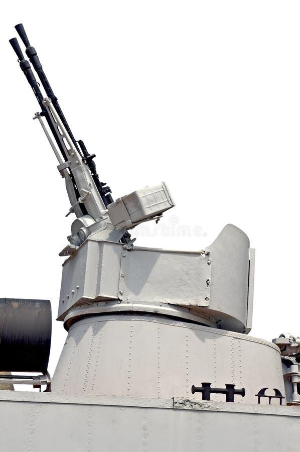 Twin machine guns stock photos