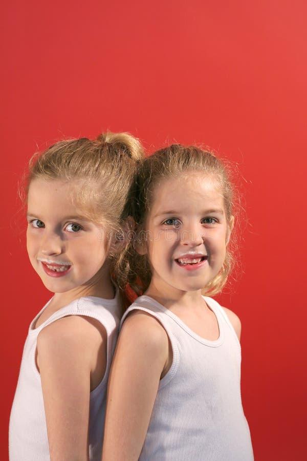 Download Twin Milk Moustache Vertical Stock Images - Image: 2250124