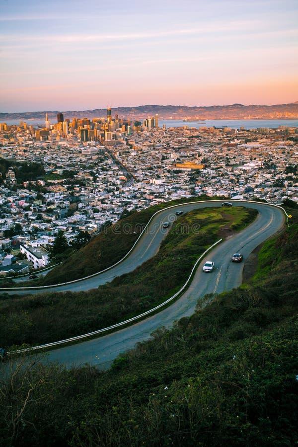 Twin Peaks SAN FRANCISCO royalty free stock photos