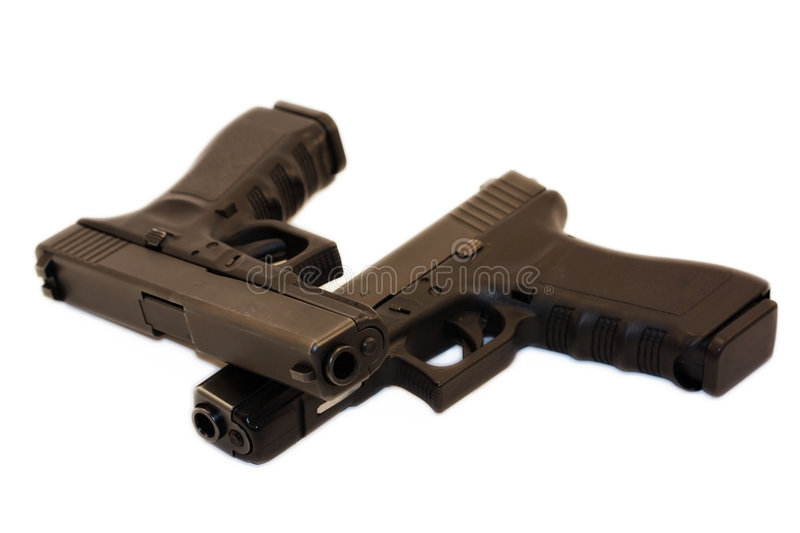 Download Twin Pistols stock photo. Image of control, army, crime - 8714568