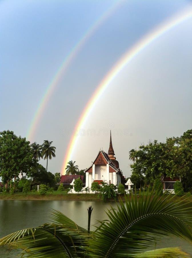 Download Twin rainbow stock photo. Image of double, suck, phenomenon - 33506848