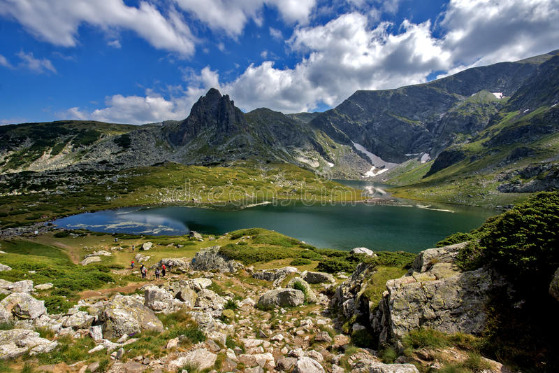 The Twin, The Seven Rila Lakes, Rila Mountain. Bulgaria royalty free stock images