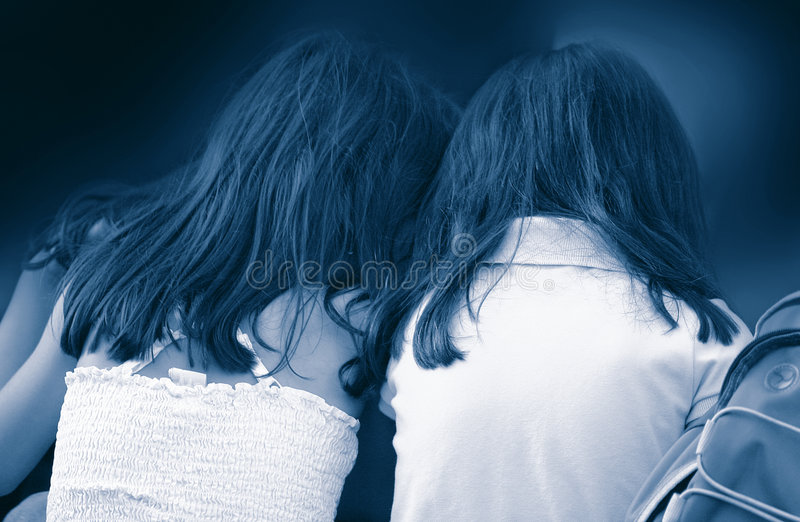 Download Twin Sisters stock image. Image of support, buddies, playful - 64987