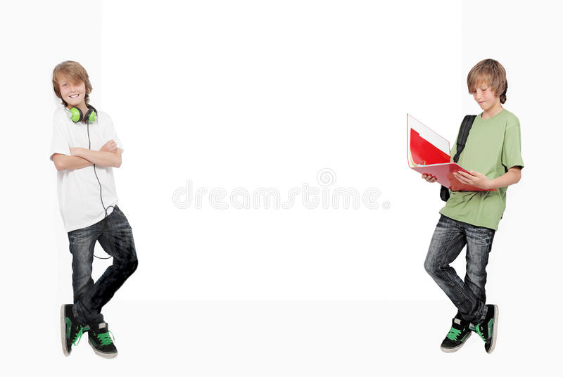 Twin students royalty free stock image