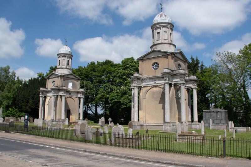 Twin Tower Mistley Essex Großbritannien lizenzfreies stockbild