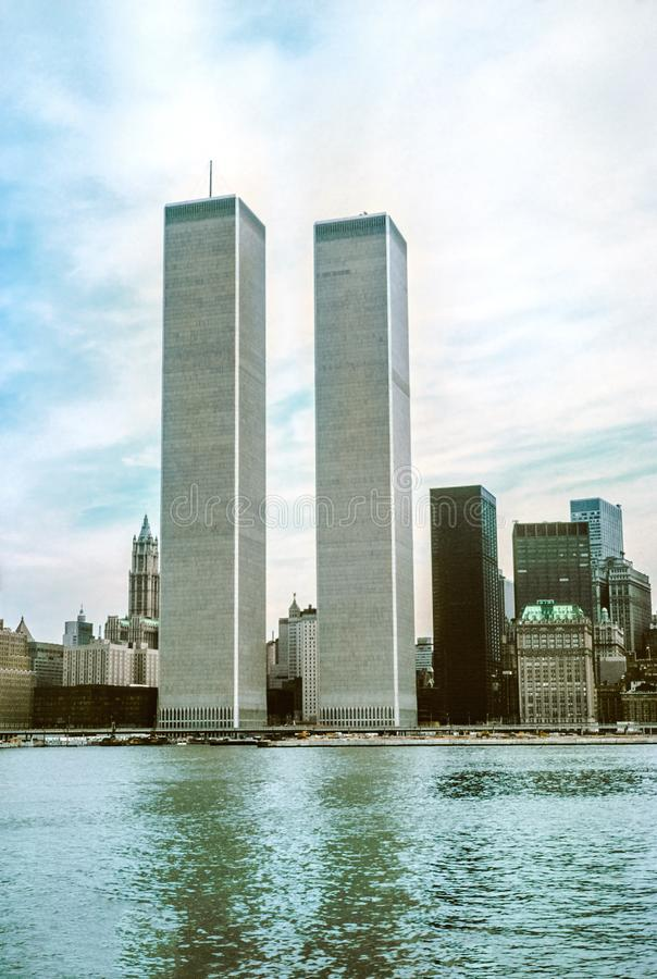 Twin Tower New York stockfotos