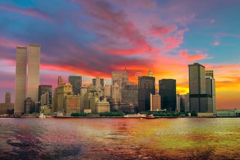 Twin Tower NYC lizenzfreie stockfotos