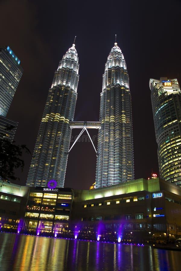 Twin tower Petronas in Kuala Lumpur Malaysia royalty free stock photography