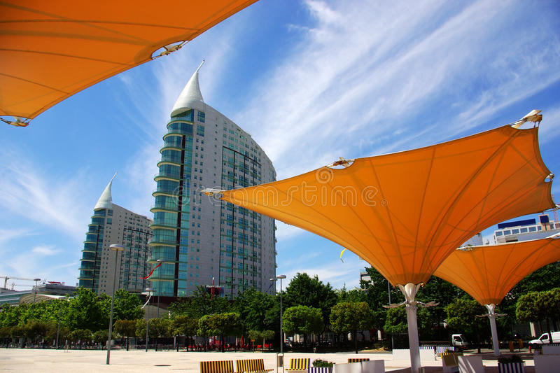 Download Twin Towers stock image. Image of shiny, colorful, park - 10177617