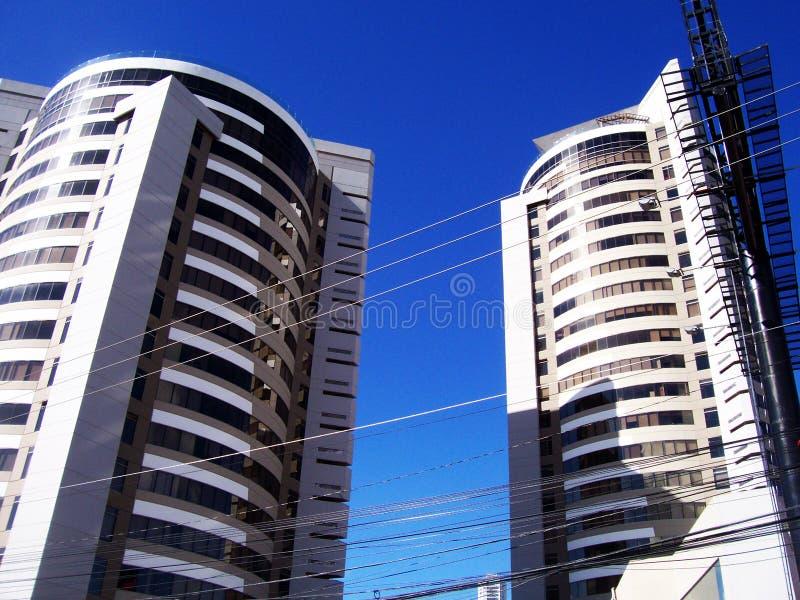 twin towers zdjęcia stock