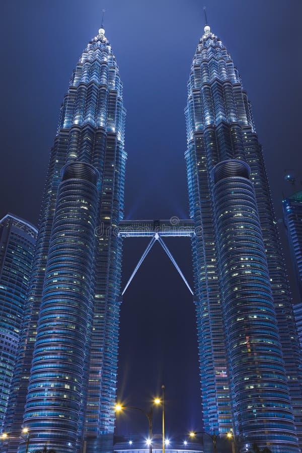 Twin towers at Kuala Lumpur (Malaysia). Architecture background stock photography