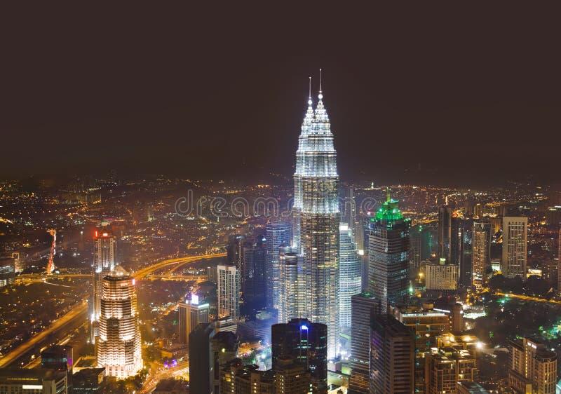 Twin towers at Kuala Lumpur (Malaysia) royalty free stock image