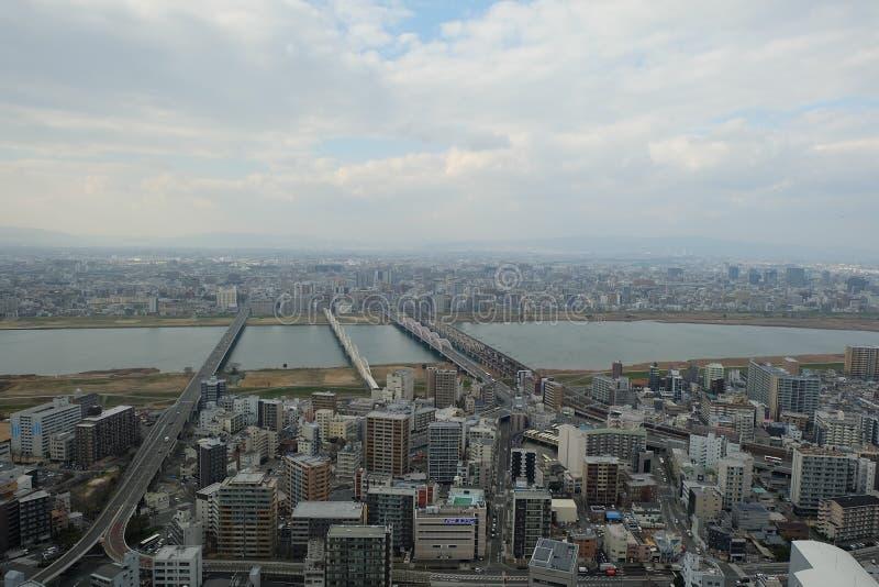 Twin Towers Osaka Umeda Holliday, Landmark, Travel, Japan royalty free stock images