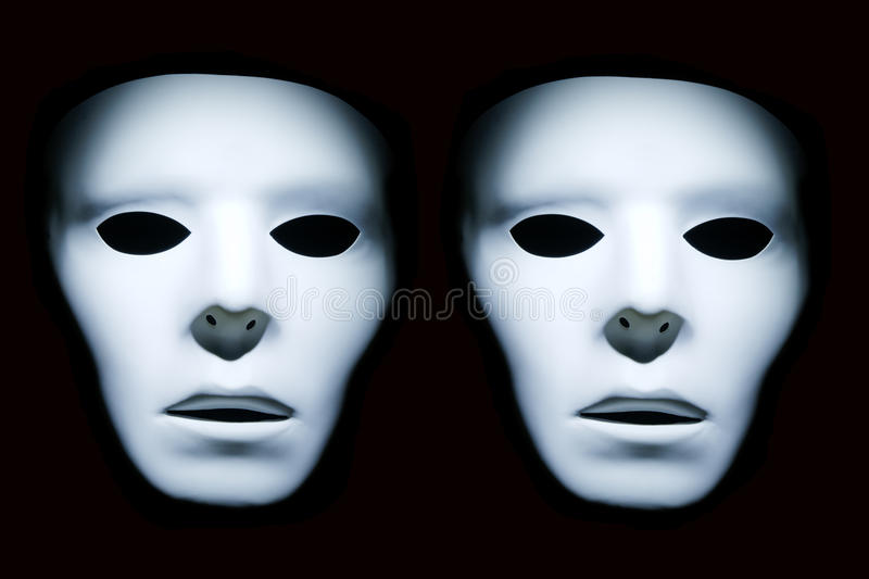 Download Twin White Faces stock image. Image of unusual, mystical - 17616923