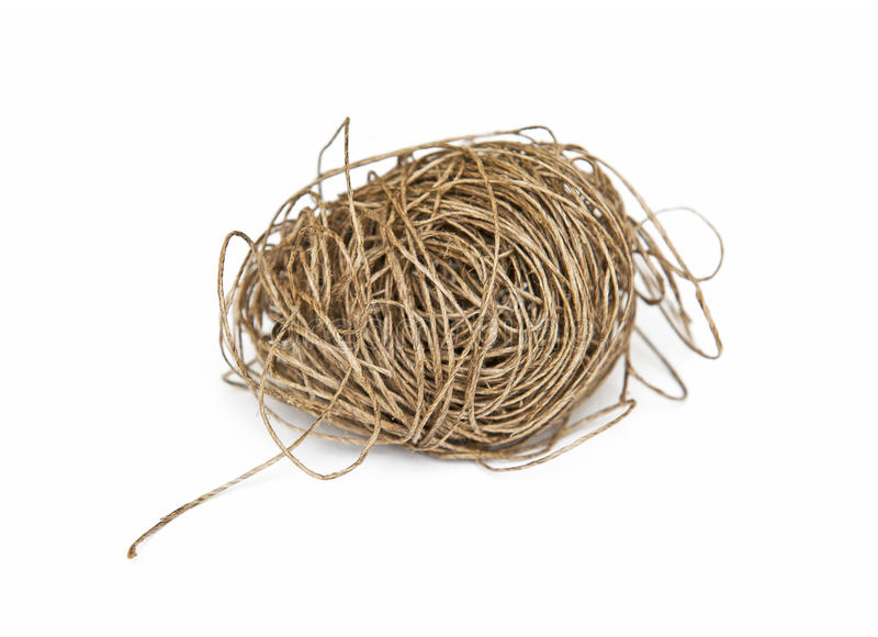 Twine. Isolated on the white background stock photos