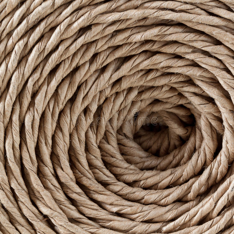 Twine. Spiral in hank packing twine royalty free stock photos