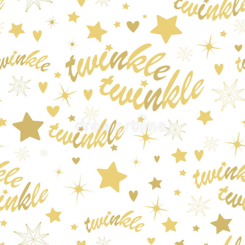Free Twinkle Stars Seamless Pattern Royalty Free Stock Images - 62429539