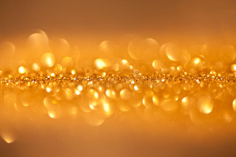 Twinkled background - christmas golden