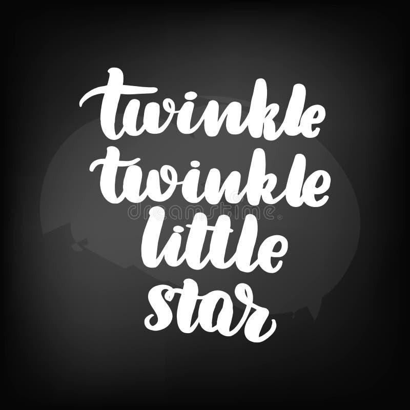 TwinkleTwinkle wenig Stern lizenzfreie abbildung