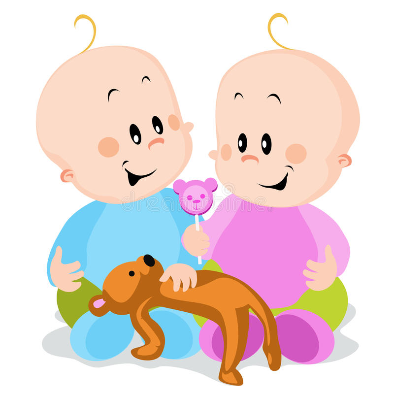 Download Twins stock vector. Image of share, books, nursery, play - 21120036