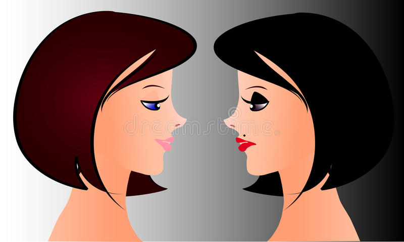Download Twins stock vector. Image of sight, picture, emotions - 23679338