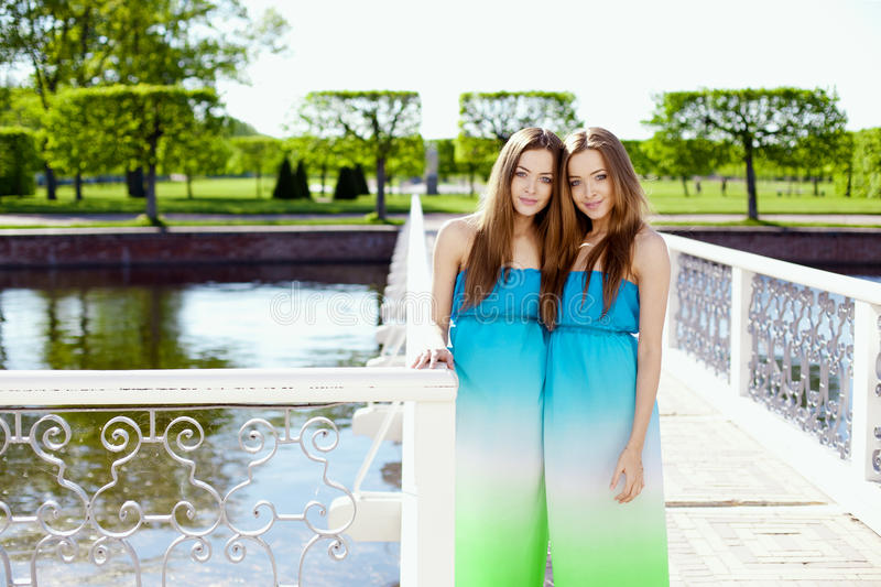 Download Twins stock photo. Image of friends, head, attractive - 25947238