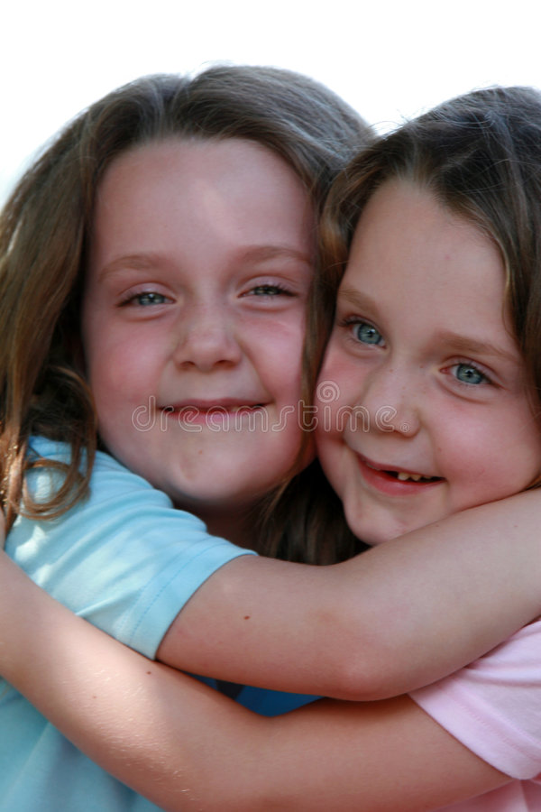 Twins. Two girls - twins stock photos