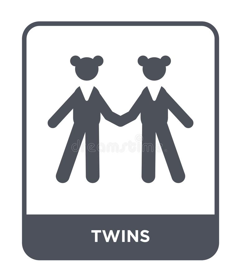 twins icon in trendy design style. twins icon isolated on white background. twins vector icon simple and modern flat symbol for vector illustration