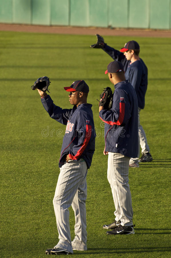 Twins Outfielders royalty free stock image