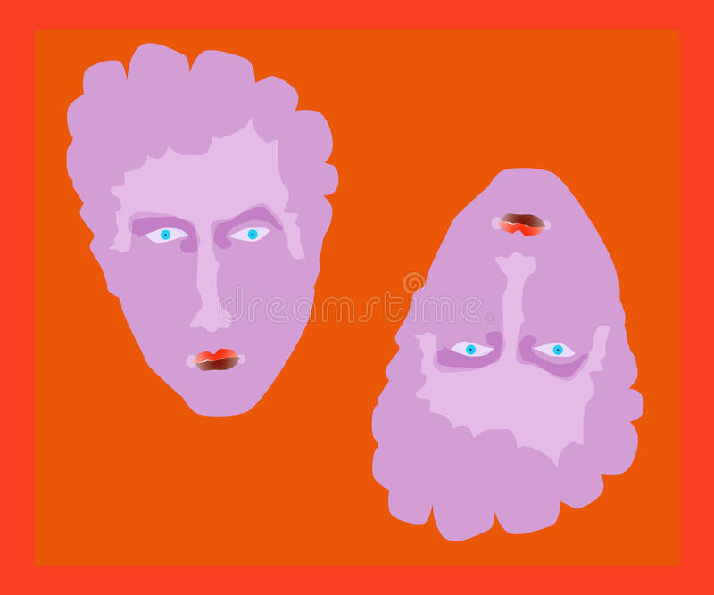 Download Twins stock illustration. Image of drawn, cufflinks, strange - 35754811