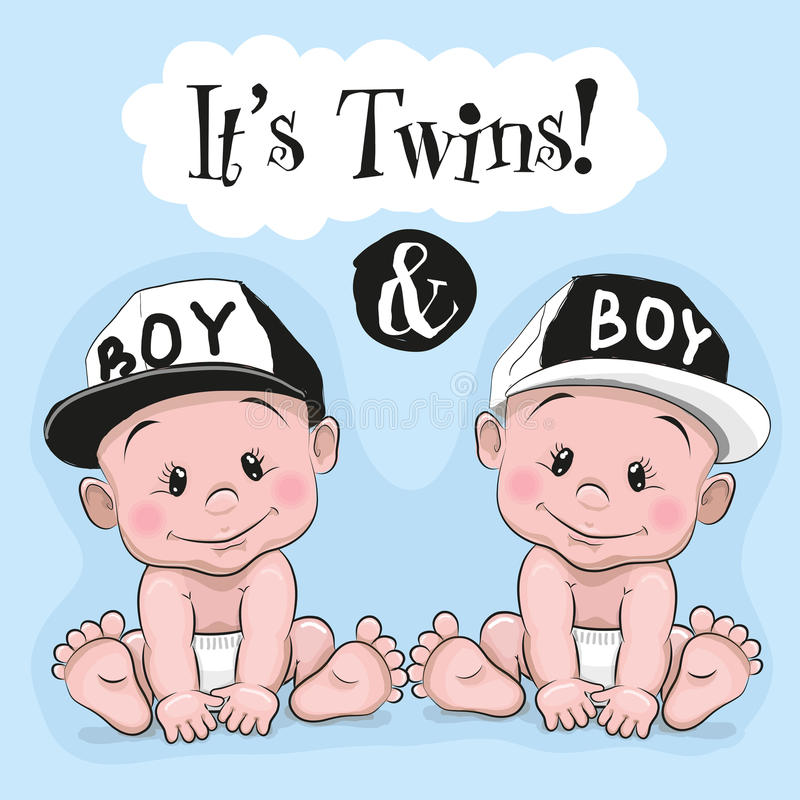 It is twins stock illustration