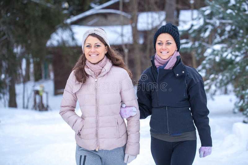 Download Twins Walking In Countryside. Stock Photo - Image: 83721660