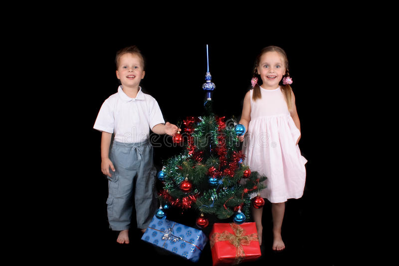 Download Twins and xmas stock photo. Image of illustration, green - 11052870