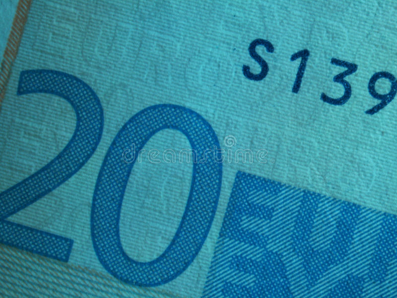 Twintig euro banknote1 royalty-vrije stock fotografie