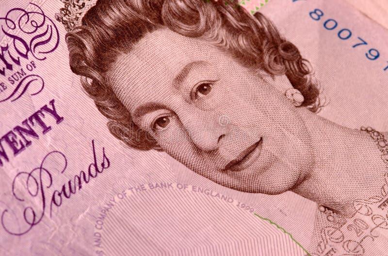 Twintig pondnota royalty-vrije stock foto's